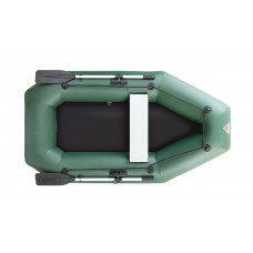 Лодка надувная YUKONA 230 G  (без пайола, транец в комплекте) (зеленая, серая)