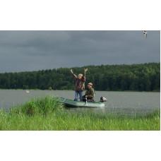 Лодка надувная YUKONA 260 GT  (без пайола, транец в комплекте) (зеленая, серая)