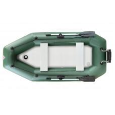 Лодка надувная YUKONA 280 GTK киль (без пайола, транец в комплекте)(зеленая, серая)