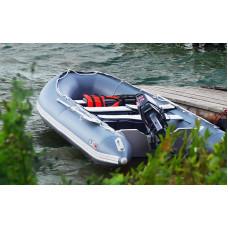 Лодка надувная YUKONA 430 TS - U  (AL) -в комплекте с алюминиевым пайлом (зеленая, серая, красная/черная)